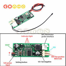 DC12V PWM 4-Wire Fan Temperature Speed Controller with Temperature probe