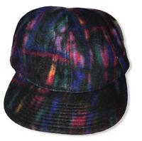 Vtg 1980's 1990's Nike Fit Men's Multicolor ThermaFit Fleece Adjustable Hat Cap