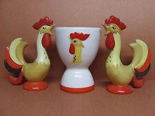 Vintage Holt-Howard Rooster/Bird Salt & Pepper Shakers + Egg Cup (Japan, 1961)