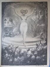 PROGRAMME MUSICAL ORIGINAL de 1903 illustré par STEINLEN (32 X 24 cm)