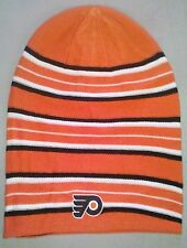 Philadelphia Flyers REEBOK Knit Beanie Toque Winter Hat Skull - Long REVERSIBLE