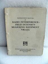 Stoddart / Eaton / Ailtech NM-62A Field Intensity Instruction & Service Manual