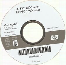 HP PSC 1500+1600 Series CD-ROM Disc Mac Apple Macintosh Printer Software Support