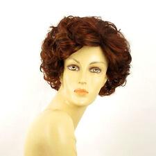 Perruque femme courte Châtain Cuivré Méché Blond Clair/rouge KIMBERLEY 33H130