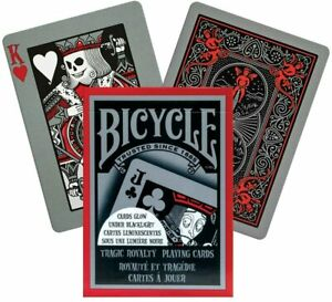 Bicycle® Tragic Royalty Playing Cards Poker Deck Gothic Magic Glow in the Dark