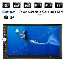 """7"""" 2 Din Bluetooth Car Stereo MP3/5 Player Radio Rear View Video Playback GPS EB"""
