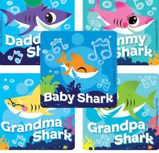 20 baby Shark  Stickers Party Favors Teacher Supply