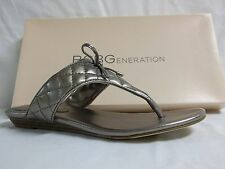 BCBGeneration BCBG Size 7 M Alice Matte Bronze Flip Flops New Womens Shoes