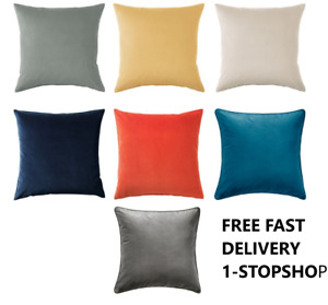 IKEA SANELA Velvet Cotton Square Cushion Covers 12 Choice of Colors 50 x 50 cm