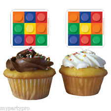 Lego inspired, Building Blocks Cupcake Topper Birthday party supplies