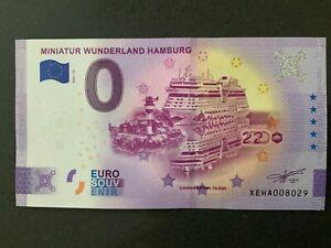 Anniversary-0-Euro-Souvenir-Schein 2020-10 # Miniatur-Wunderland-Hamburg # XEHA