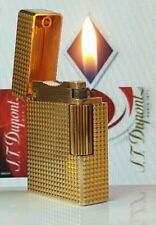 ST DuPont Lighter Rare Gold Ligne 1 Small Functional Serviced Warranty Ex Co H90