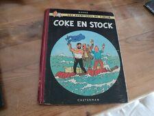 TINTIN / COKE EN STOCK (1958) edition originale B24, aucune écriture/manque RARE