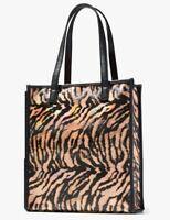 Neiman Marcus x Stephanie Johnson Tiger Print PVC Tote Bag Purse Travel Shopper