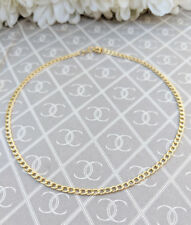 Fine 9ct Yellow Gold Curb Anklet / Ankle Bracelet 9.5""