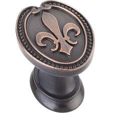 Oil Rubbed Bronze Fleur-de-lis Kitchen Cabinet Knob Vanity Knobs Furniture Pulls