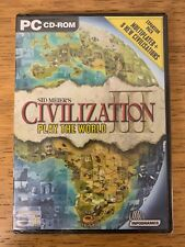Sid Meier's Civilization III Play the World Game Expansion Pack PC - New