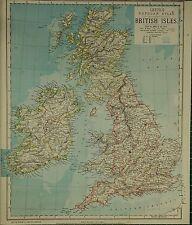 1883 LETTS MAP ~ BRITISH ISLES WALES SCOTLAND ENGLAND FORFAR YORK IRELAND LONDON