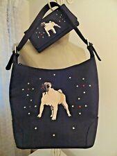 Pug Dog Handbag & Wallet Combo Rhinestone Embellished