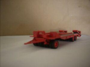 "CORGI HEAVY HAULAGE - 1.50 SCALE DYSON TRAILER  "" PLAIN RED """