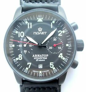POLJOT AVIATOR Watch Russian Chronograph