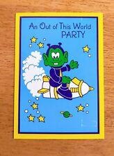 Bully Figuren Party Invitation Cards VTG 1984 Gibson 7 lot Alien Astrosniks Snik