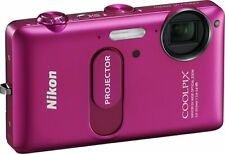 NIKON Coolpix S1200pj Digital Camera W/ Built-In Projector & iPhone Dock Cable