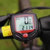 LCD Funk Fahrradcomputer Fahrrad Tachometer Radfahren Kilometerzähler LCD M Y9E1