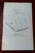1900 Diagram Map of Agricultural Experiment Station Fort Yukon Alaska