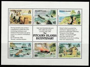 PITCAIRN ISLANDS- 1990/91 BICENTENARY ISSUES SG356/62 & 389/94  MOUNTED MINT SET