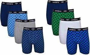Umbro Men's Boxer Briefs 8-Pack Short Leg Trunk Athletic Cotton Stretch No Fly