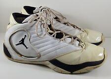 Nike Air Jordan B'2 Rue- White Black/Silver Size 15 Basketball Shoes 312523-105