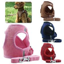 FT- Adjustable Dog Harness Step-in Puppy Harness Leash Set Pet Jacket Vest Sight