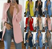 Size S-5XL Womens Slim Fit Outwear Business Blazer Suit Jackets Cardigan Coat