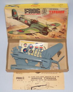 FROG #389P HAWKER TYPHOON PLASTIC MODEL KIT VINTAGE 1950's ISSUE COMPLETE BOXED