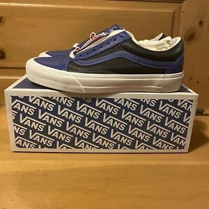 Vans Men's Old Skool OG VLT Vault LX VN0A4BVFXG2 Leather Blue Black Shoes 11.5
