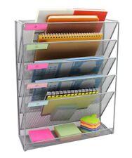 Wall Mount 6 Pocket Hanging File Sorter Organizer Folder Holder Rack Storage NEW