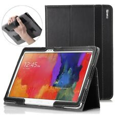 Case for Samsung Galaxy Tab Pro 10.1 Poetic【SlimBook】SlimFit PU Leather Folio BK