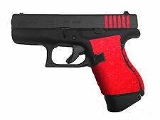 RED  GRIP TAPE, FITS 43,,,HANDGUN, GUN, PISTOL, NON SLIP, TARGET PRACTICE