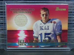 2001 Bowman Drew Brees Hula Bowl Jersey Patch Relic Rookie Card RC Q824