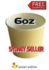 1000 Pieces 6oz Tan 177ml Single Wall Paper Cup Coffee Cups Disposable