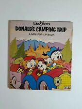 1977 Walt Disney Donald Duck's Camping Trip Mini Pop Up 00004000  Book