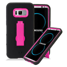 SAMSUNG GALAXY S8+ PLUS G955 BLACK PINK IMPACT SHOCKPROOF CASE RUGGED COVER
