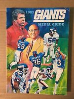 1983 NY Giants NFL Team Issued Football Media Guide VERY GOOD Condition