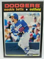 2020 Topps Heritage High Number Mookie Betts #502 Action SP Dodgers