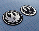 RUGER - firearms rifle revolver - Metallic Sticker Badge Logo - 2 pieces