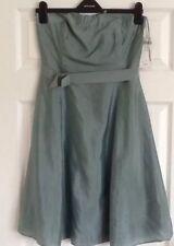 Special Occasion Light Green Silk Blend Strapless Short Dress Next Petite 10 new
