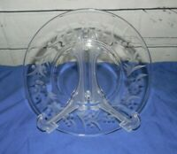 "Vintage Fostoria Cynthia Clear Etched 7 1/8"" Salad Glass Plate Plates Lot of 8"