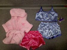 Build a Bear CLOTHES-Pajamas PJs-Butterfly Satin-Fleece Robe-Bow- Lot F16