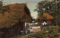 Native Huts, Panama, Early Postcard, Unused